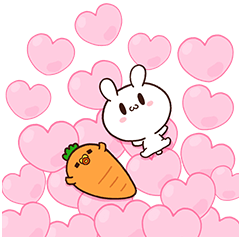 [Big Stickers] Moose The Rabbit & Carrot