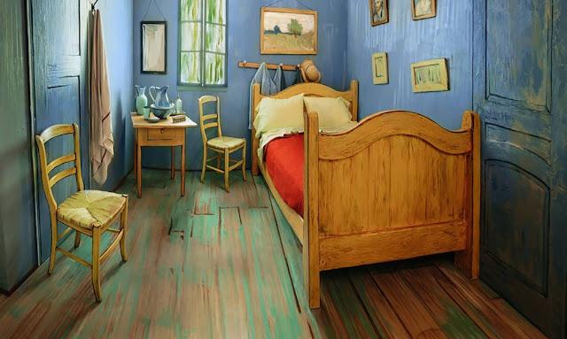Die Wohngalerie Schlafen In Vincent Van Gogh´s Gemälde