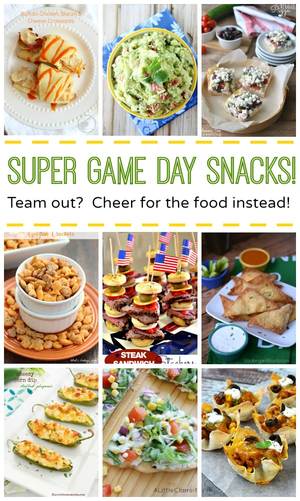 Game day snacks you can cheer for even if your team is out of the big game from Cooking on the Front Burner
