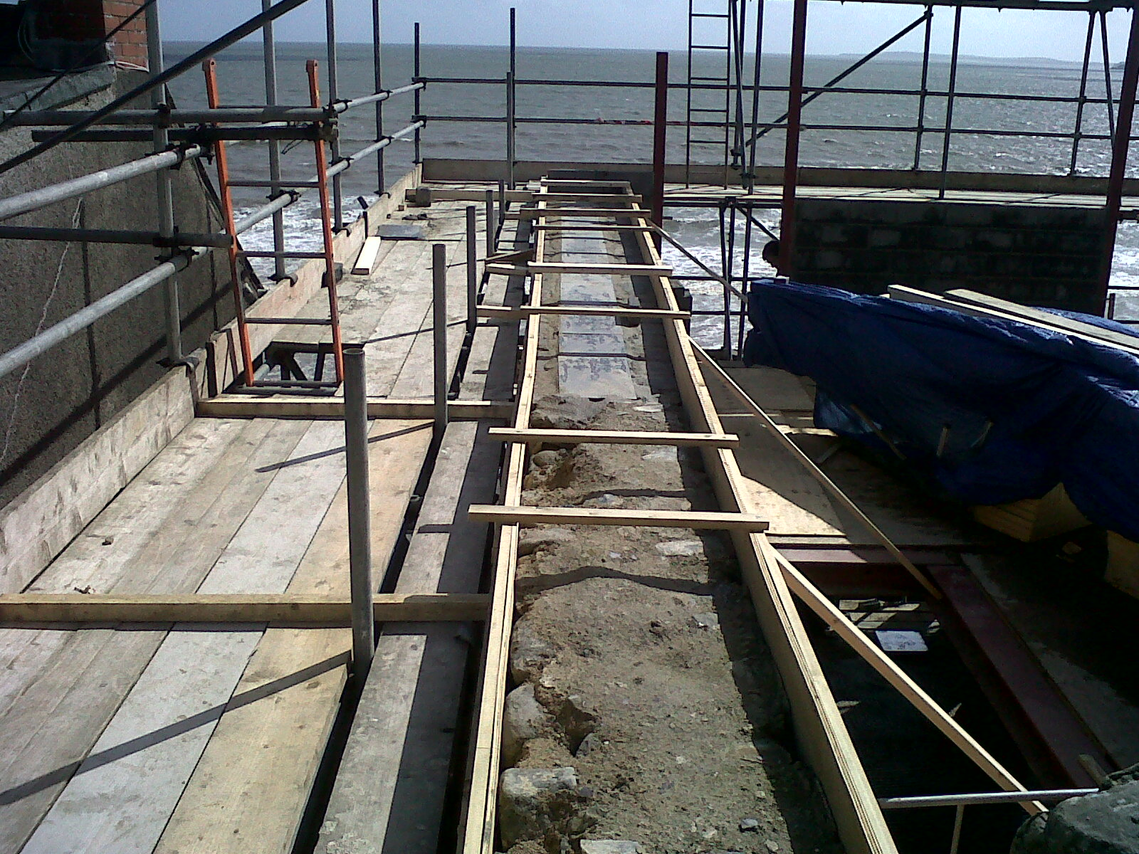 Amroth Project Concrete Ring Beam Construction