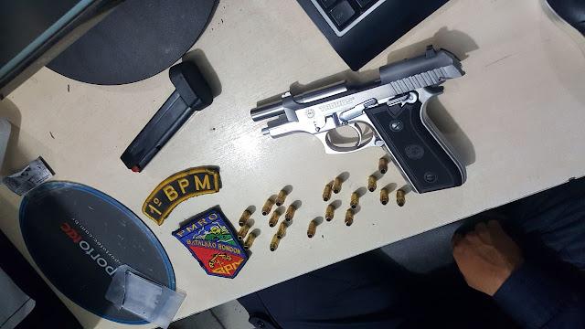 Polícia prende empresário com pistola em veículo