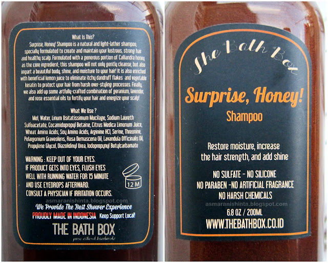 review the bath box surprise, honey! shampoo dan leave in conditioner