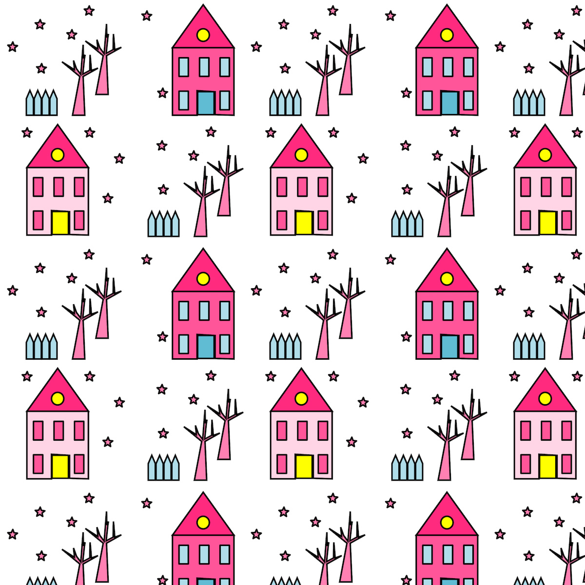Free digital houses scrapbooking paper ausdruckbares for House pattern