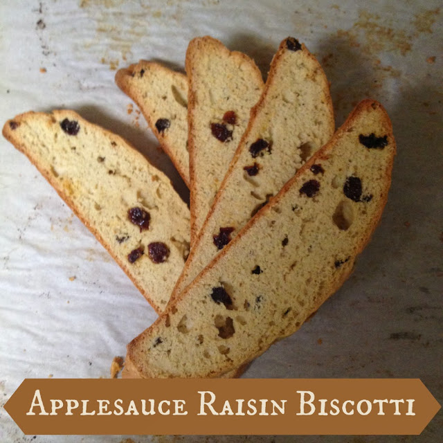 Applesauce Raisin Biscotti