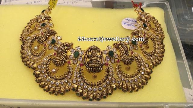 Chandbali Lakshmi Choker by Premraj Jewellers