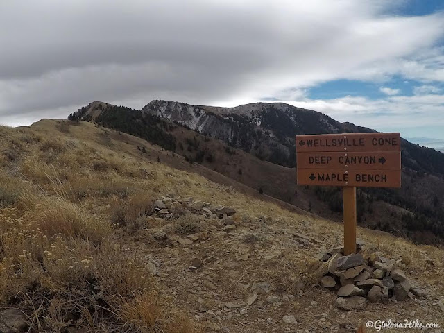 Hiking to the Wellsville Cone, Wellsville Mountains, Utah