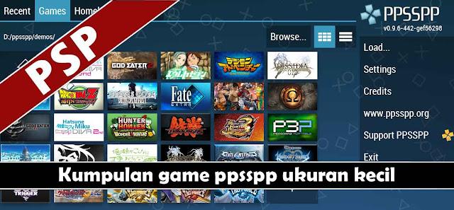 kumpulan game ppsspp ukuran kecil