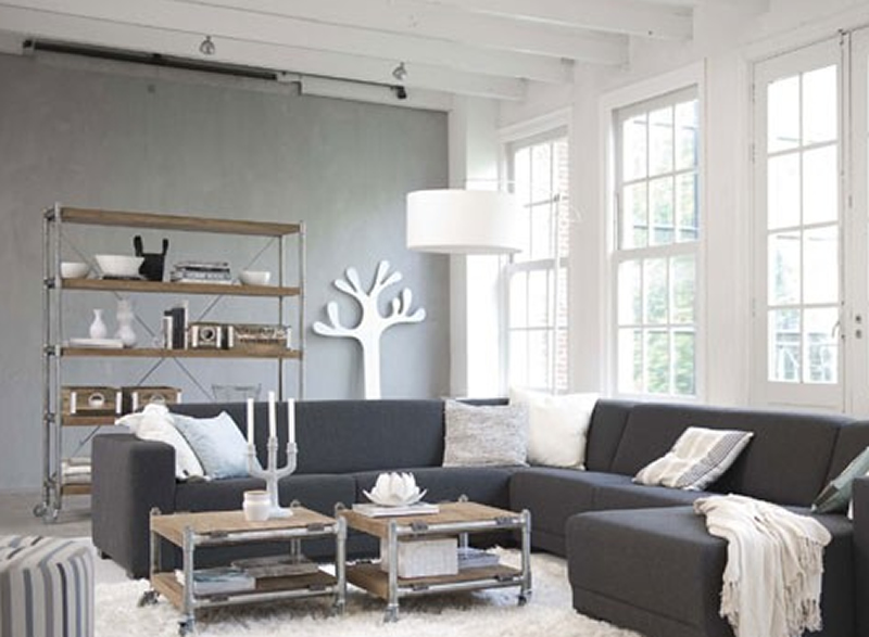 Monochromatic living room designs ideas 2015 new for Monochrome interior design ideas
