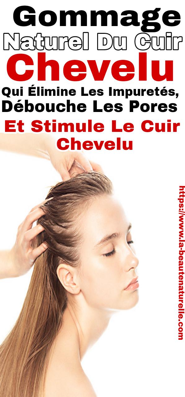 Gommage naturel du cuir chevelu qui élimine les impuretés, débouche les pores et stimule le cuir chevelu