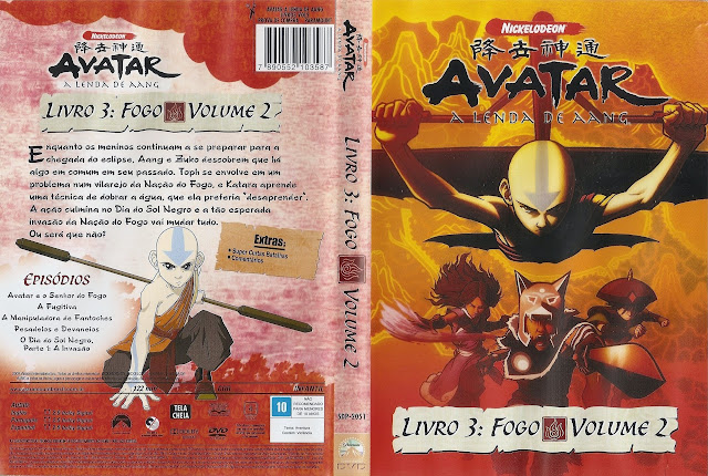 Capa DVD AVATAR A LENDA DE AANG LIVRO 3: FOGO VOLUME 2