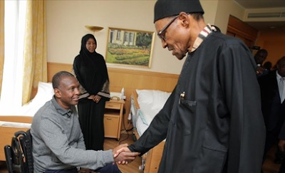 Buhari visits Nigerian military officer in Berlin hospital