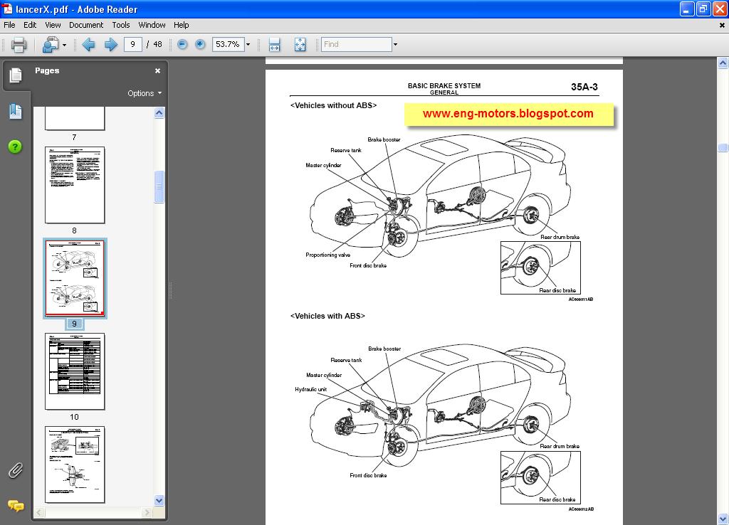 Mitsubishi Lancer X Workshop