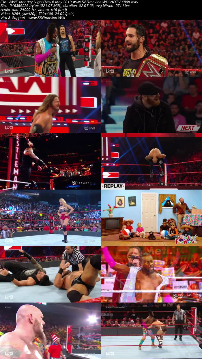 WWE Monday Night Raw 6 May 2019 Full Show Download