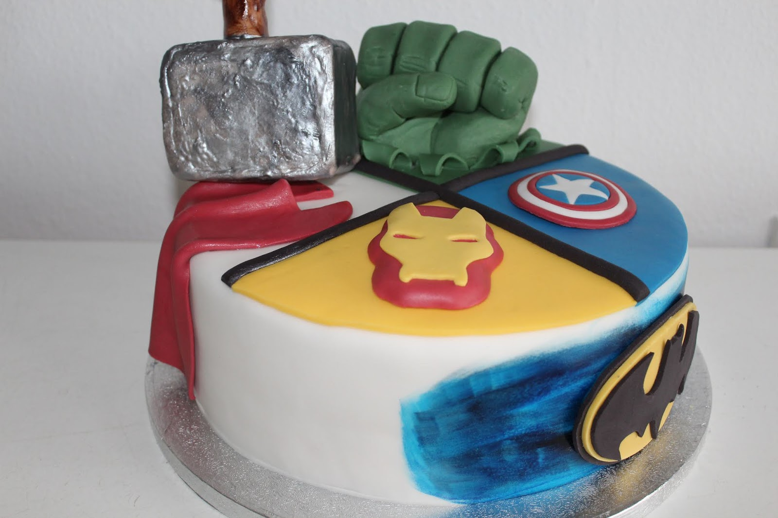 Captain America Kuchen Theresas Backstube Superhelden The Avengers