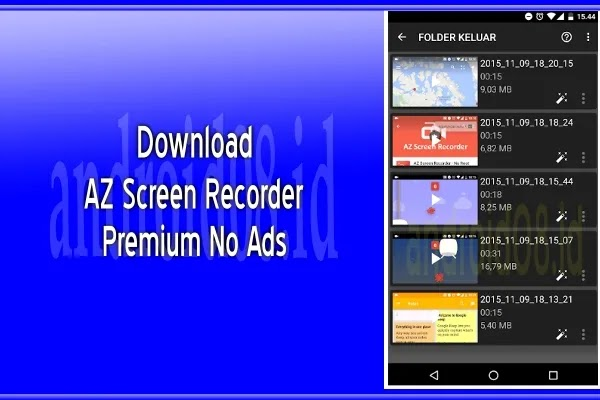 download az screen recorder pro premium apk terbaru