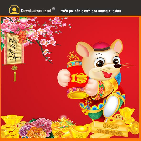 Chuột vàng chúc tết