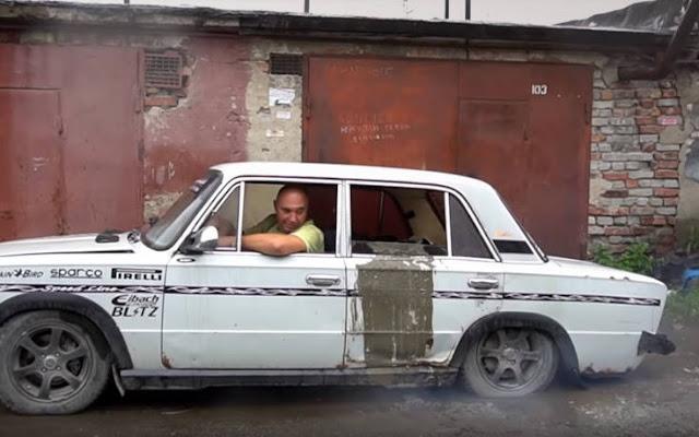 Γέμισαν ένα παλιό Lada με τσιμέντο για να δουν αν θα μπορέσει να κινηθεί