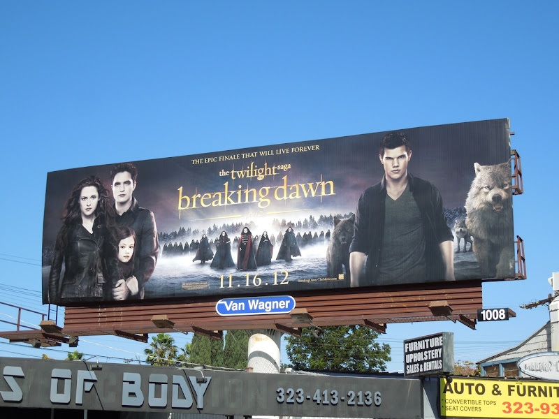 Twilight Breaking Dawn Part 2 movie billboard