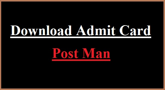 Jharkhand Post Circle India Post Admit Card 2012 for Post Man