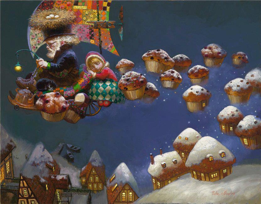 10-Home-Sweet-Home-Victor-Nizovtsev-Daydreaming-with-Fantasy-Oil-Paintings-www-designstack-co