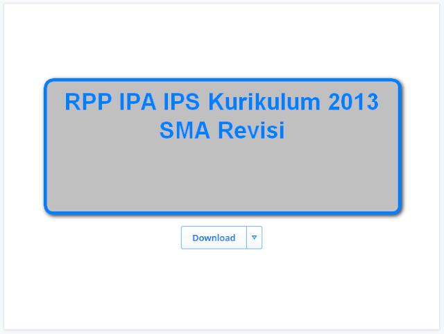 RPP IPA IPS Kurikulum 2013 SMA Revisi