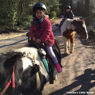 Riding ponies at Center Parcs, Erperheide
