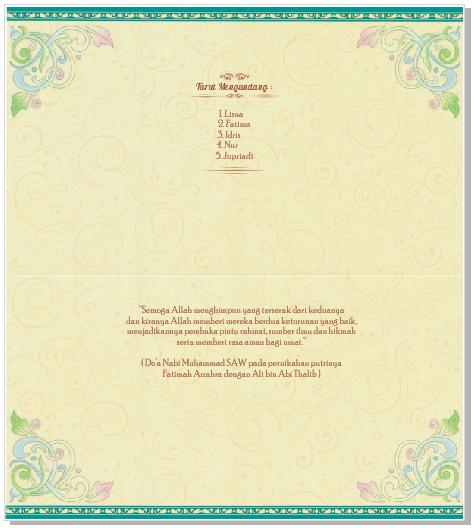 blanko undangan erba 88171 halaman turut mengundang dan do'a pengantin