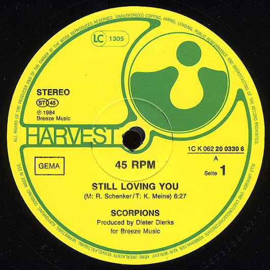 SCORPIONS - STILL LOVING YOU (12'' VERSION)