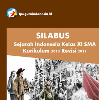 Silabus Sejarah Indonesia Kelas XI SMA Kurikulum 2013 Revisi 2017