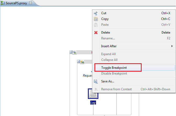 OSB Eclipse Debugger Add Toggle Breakkpoint