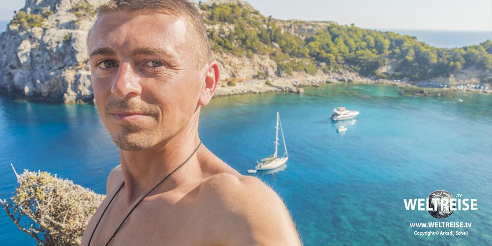 Anthony Quinn Bay, Rhodos, Grichenland. Die schönsten Ort und Strände der Erde! WELTREISE mit Arkadij