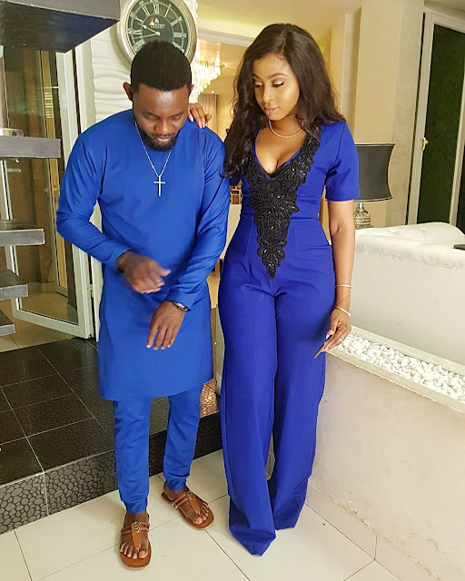 Ay and wife step out in blue