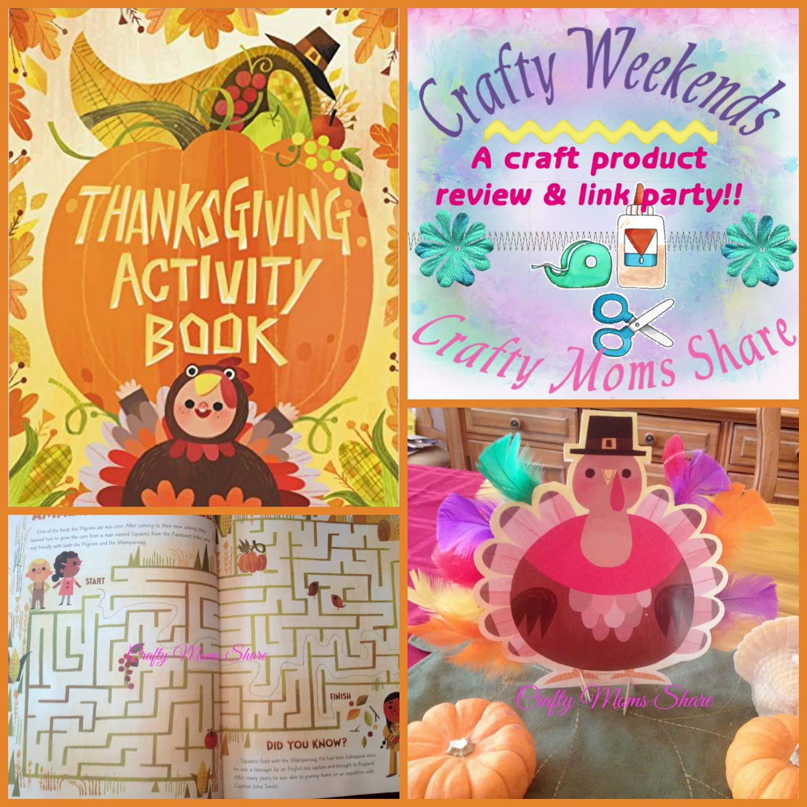 crafty moms share crafty weekend thanksgiving activity book