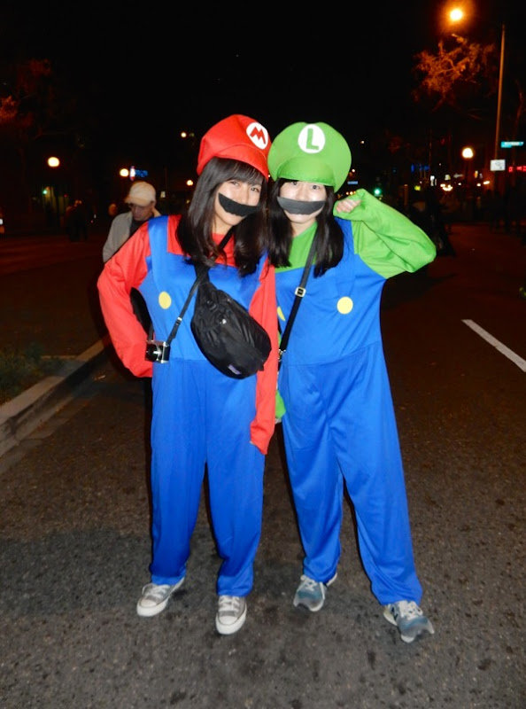 West Hollywood Halloween Super Mario Bros costumes