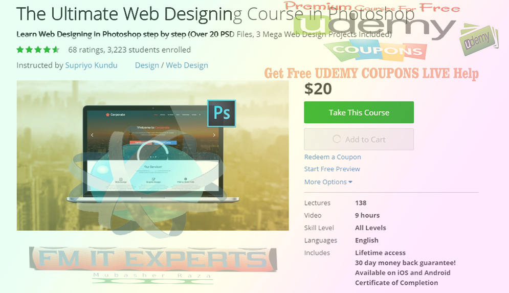 Free 100 Udemy Coupons The Ultimate Web Designing Course In Photoshop