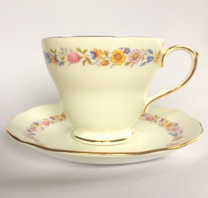 Floral Vintage Tea Cup Candle Soy Wax