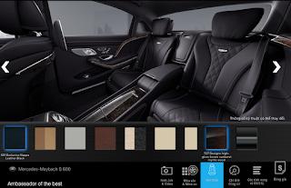 Nội thất Mercedes Maybach S600 2017 màu Đen (501)