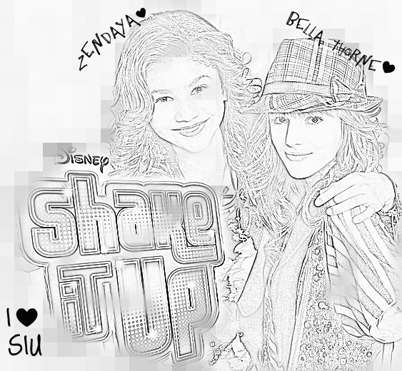 coloring pages of zendaya - photo#39
