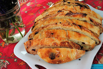 Chocolate cranberry orange bread