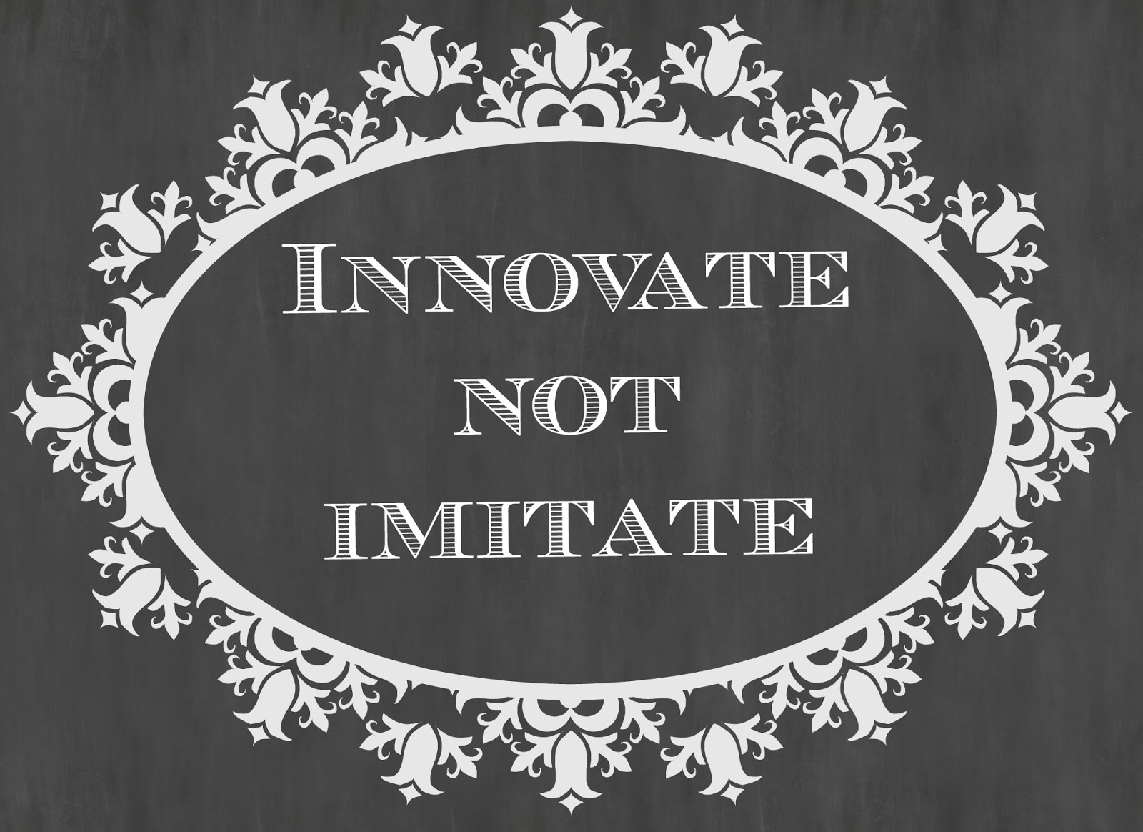 innovate not imitate, cybher