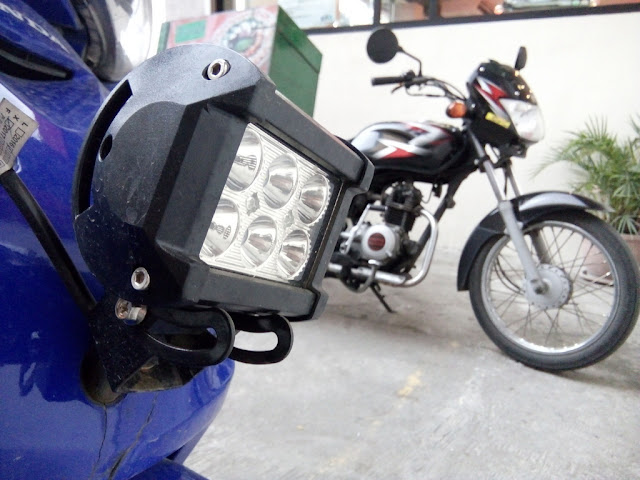 LED lights of motorcycle