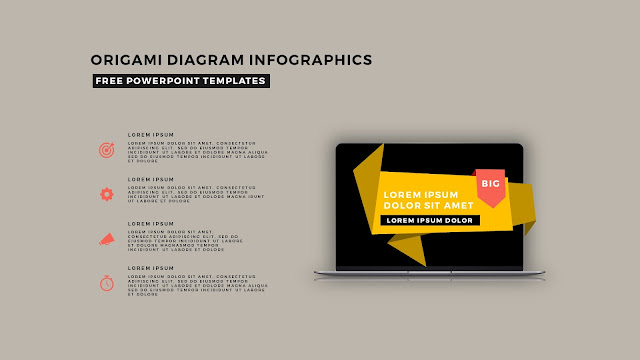 Origami Diagram Infographic Free PowerPoint Template Slide 15