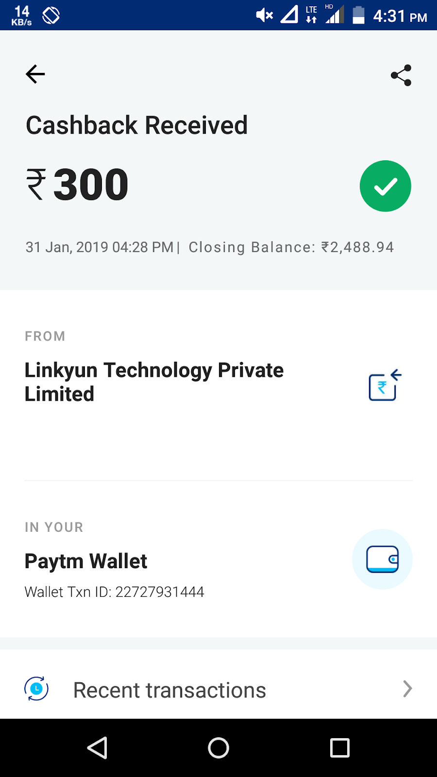 TechandFreeCash: videobuddy App payment proof free Paytm Signup 20rs
