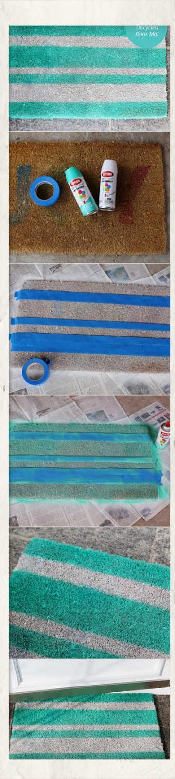 χειροποιητες κατασκευες χαλακια εισοδου,χαλακια εισοδου με καλοκαιρινα σχεδια,καλοκαιρινη διακοσμηση χειροποιητα χαλακια εισοδου