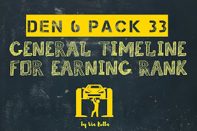 Den 6 Pack 33 General Timeline for Earning Rank , Boy Scouts, Cub Scouts, Pack 33, Den 6, Takoma Park, Arrow of Light
