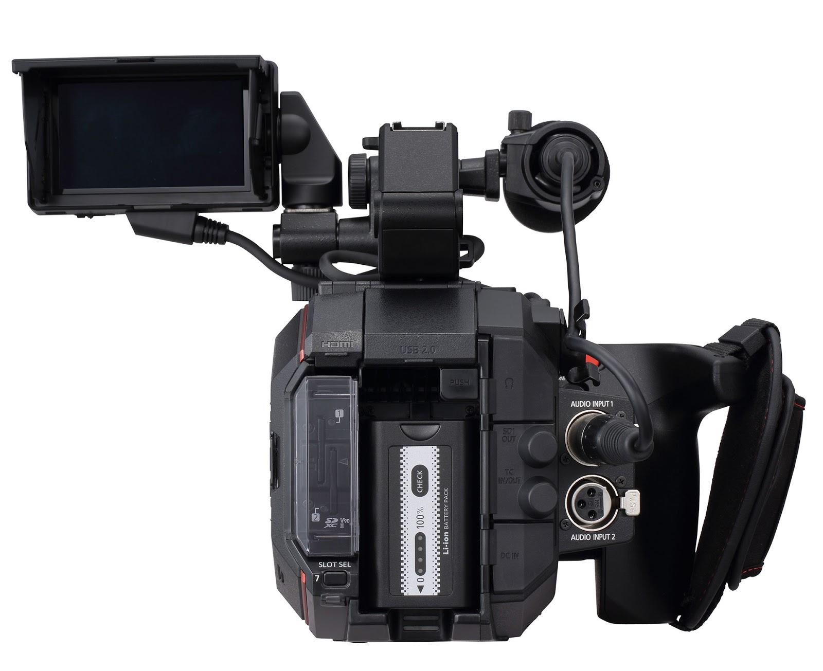 Panasonic AU-EVA1, вид сзади