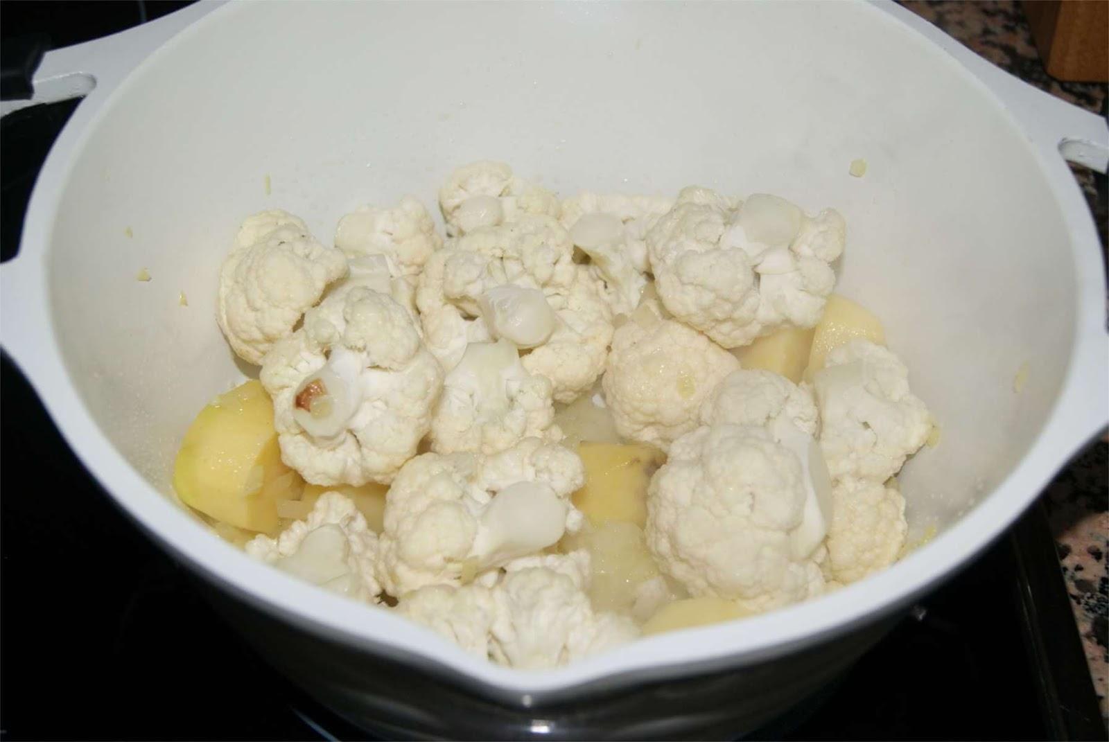 Crema de coliflor al curry paso 2