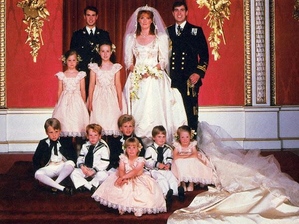 Królewskie Śluby - Książę i Księżna Yorku.