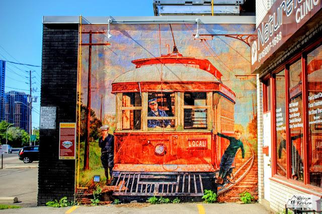 Murale w Dzielnicy Islinton - pociąg