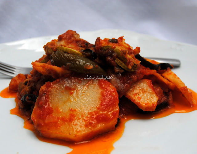 Verduras de Verano con Salsa de Tomate (Tiganita Lahanika me Domata)